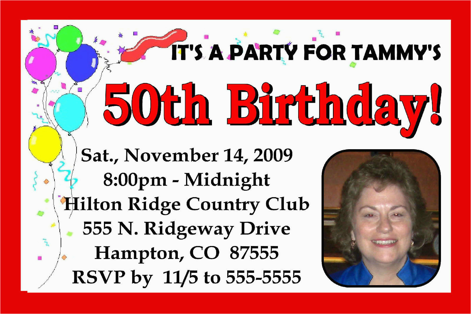 Personalized 40th Birthday Invitations 50th 60th Party