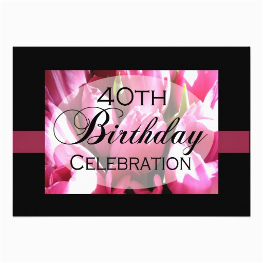 personalized 40th birthday party invitations 161748125239643177