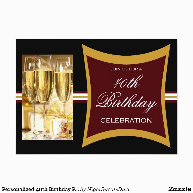 personalized 40th birthday party invitations 161791653762728743