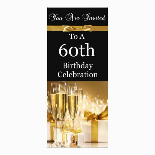 60th birthday party personalized invitation 4 quot x 9 25