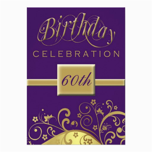 Personalized 60th Birthday Invitations 60th Birthday Party Personalized Invitation 5 Quot X 7