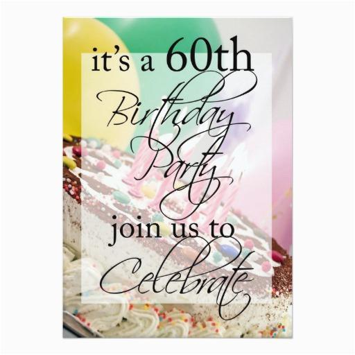 60th birthday party personalized invitation zazzle