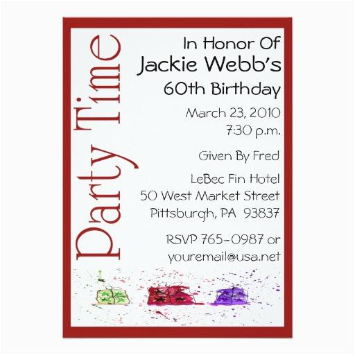 personalized 60th birthday party invitation zazzle