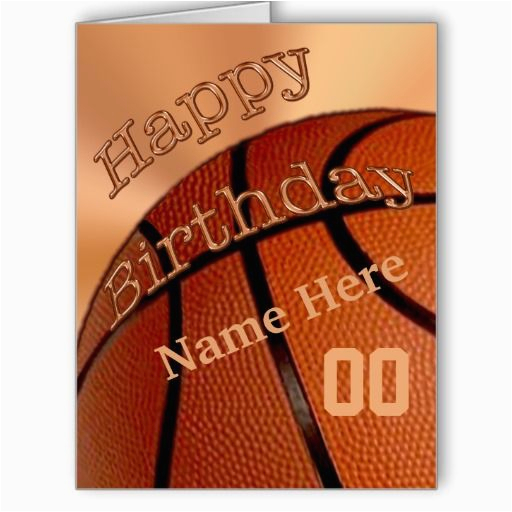 Personalized Birthday Cards For Him Big Happy Basketball