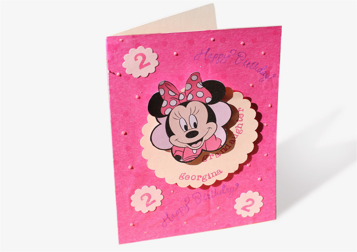 minnie mouse birthday card personalized