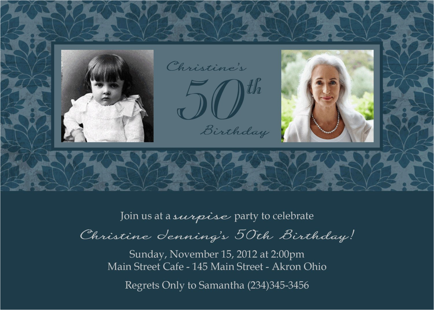 Personalized Birthday Invitations For Adults Adult Photo Custom Design