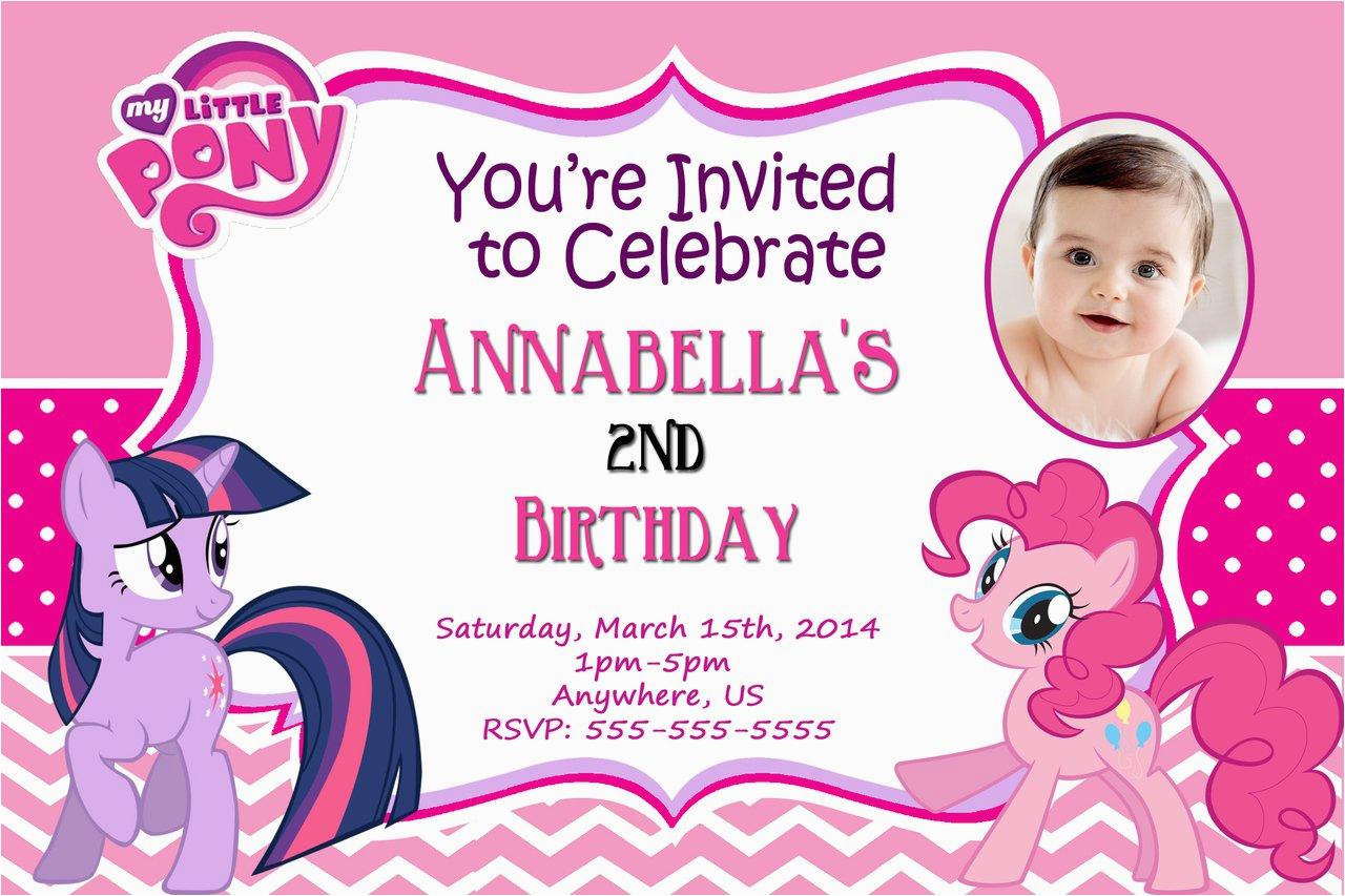 Personalized Birthday Invitations Free My Little Pony Best
