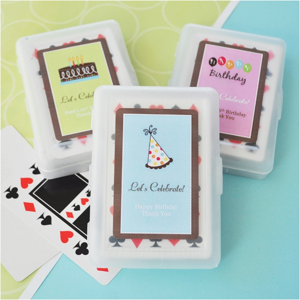 personalized birthday playing cards p 16670