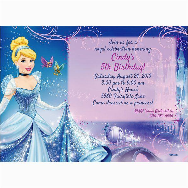cinderella personalized invitation each