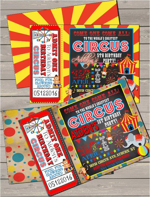 Personalized Circus Birthday Invitations 36 Carnival Invitation Templates Free Sample