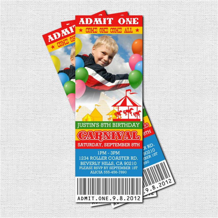 93 Personalized Carnival Birthday Invitations