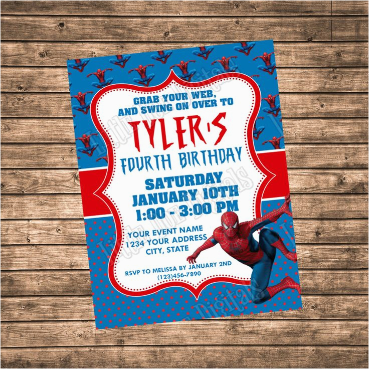 Personalized Spiderman Birthday Invitations 17 Best Ideas About Spider Man Party On Pinterest