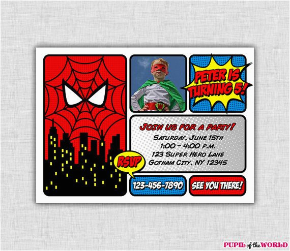 Personalized Spiderman Birthday Invitations 17 Best Images About Marvel Comic Party On Pinterest
