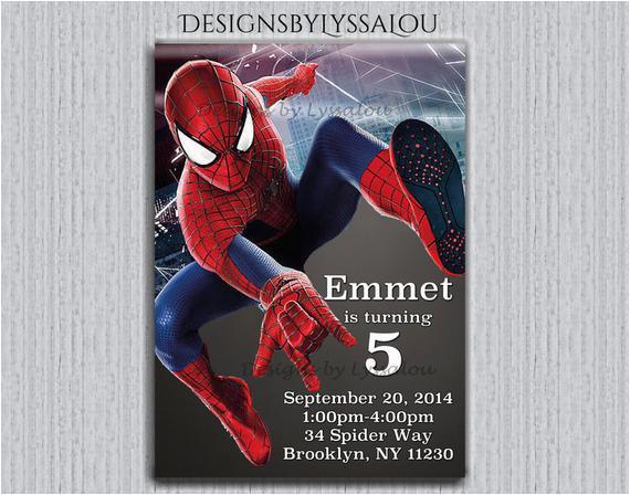 spiderman invitation personalized ref shop home active 1