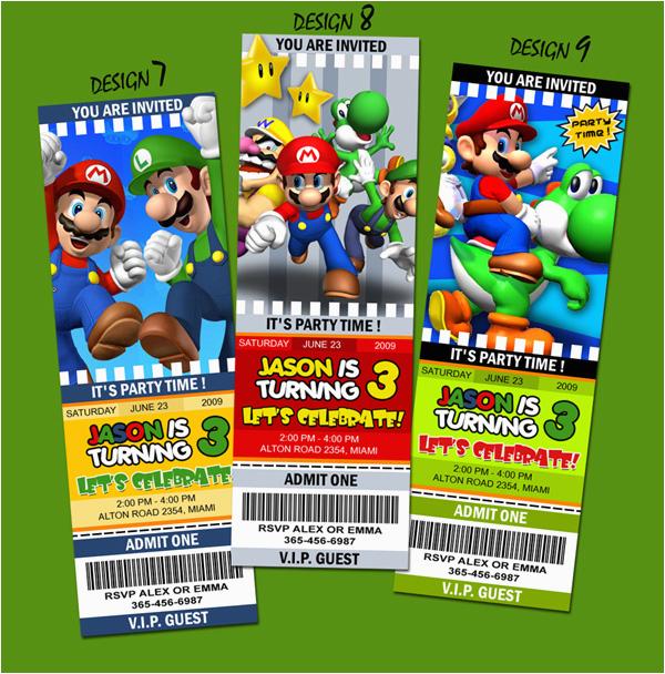 super mario bros party invitations