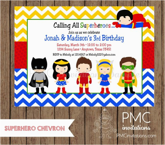Custom Printed Superhero Birthday