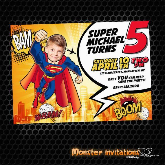 superman printable birthday invitation