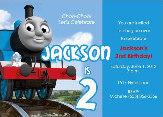 Personalized Thomas The Train Birthday Invitations Items Similar To Party