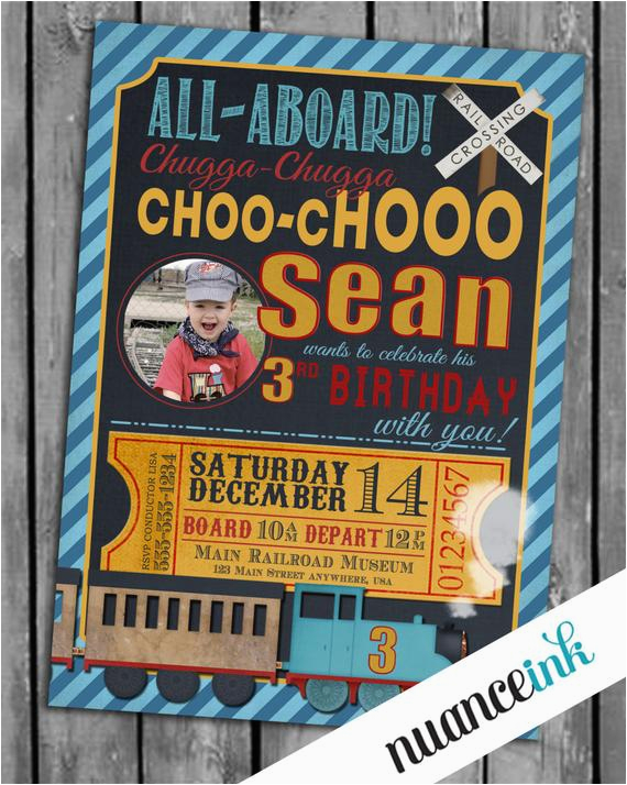 Personalized Thomas The Train Birthday Invitations Unavailable Listing On Etsy