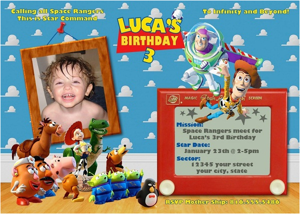 toy story birthday party invitation ideas