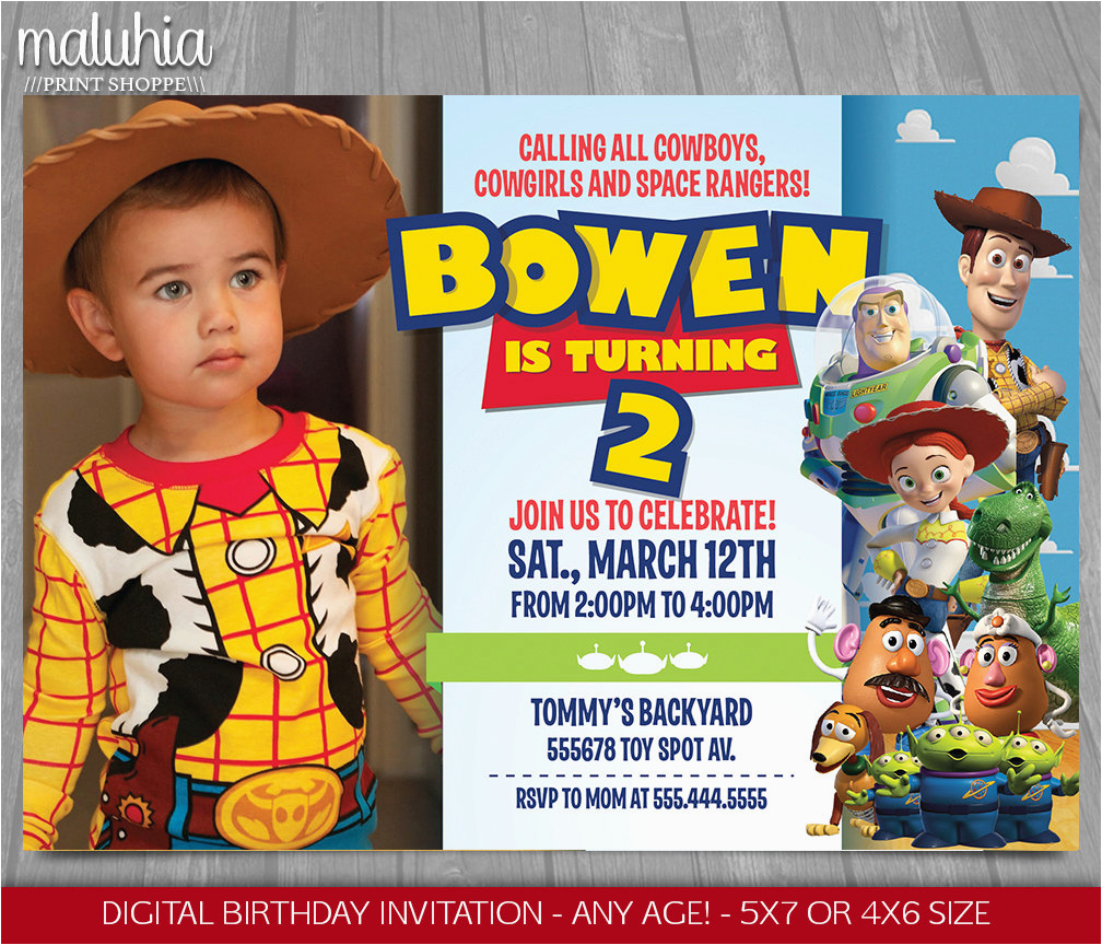 toy story invitation toy story invite