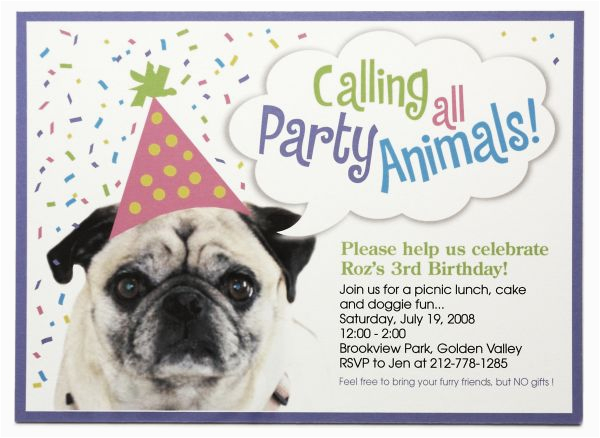 Pet Birthday Invitations Dog Ideas Bagvania Free Printable