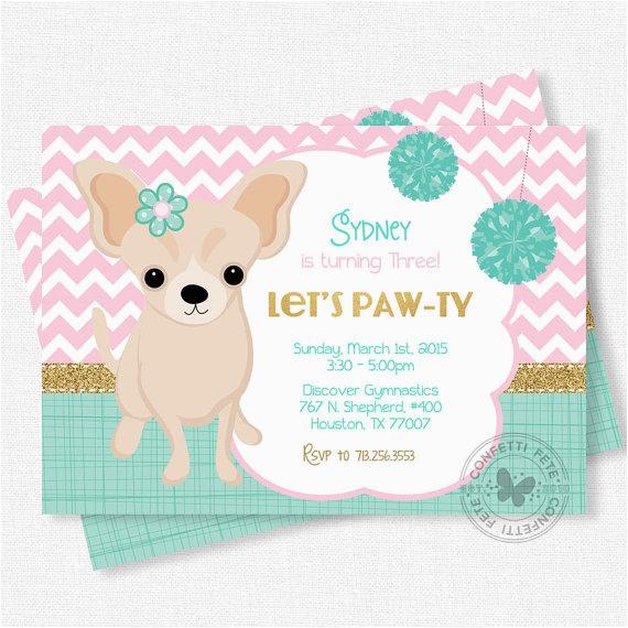 puppy party invitation dog birthday