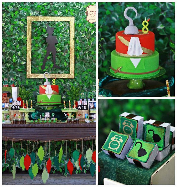 Peter Pan Birthday Decorations Kara 39 S Party Ideas Peter Pan themed Birthday Party Via