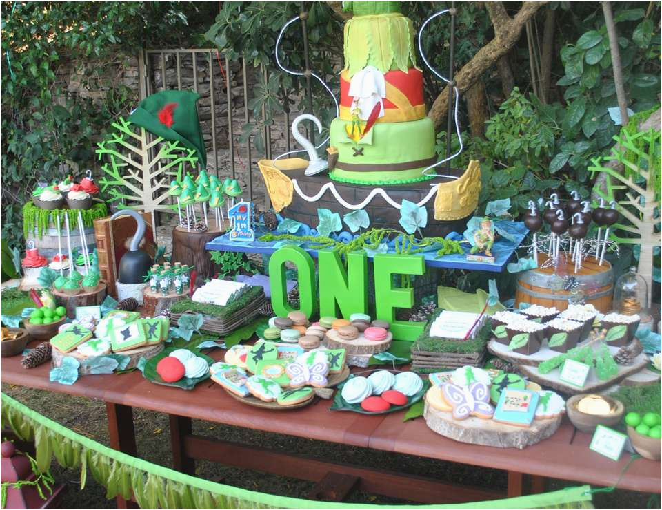 peter pan 1st birthday party