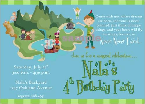 peter pan birthday party invitation ideas
