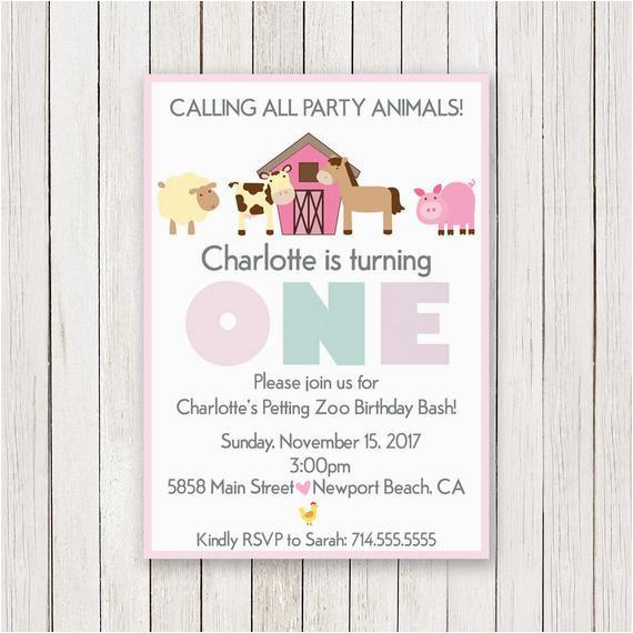 Petting Zoo Birthday Party Invitations Birthdaybuzz