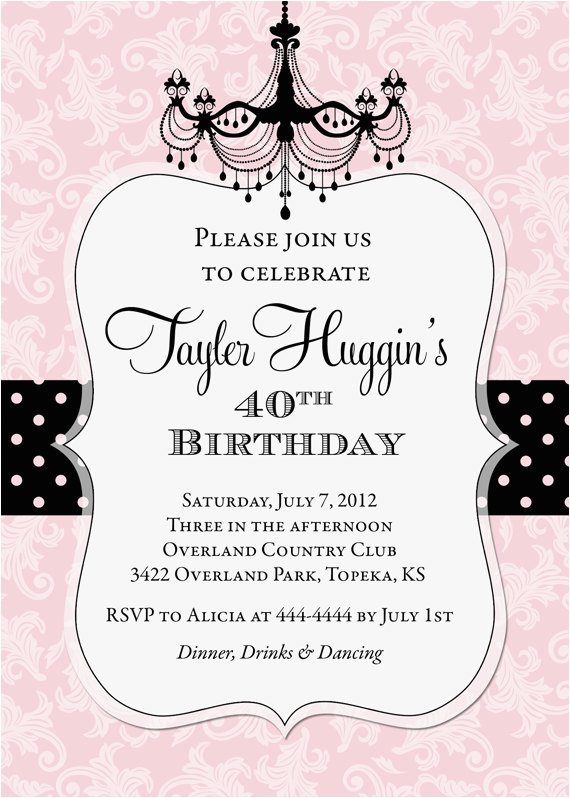 photo birthday invitations for adult