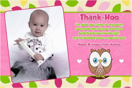 Photo Thank You Cards 1st Birthday Quotes Quotesgram