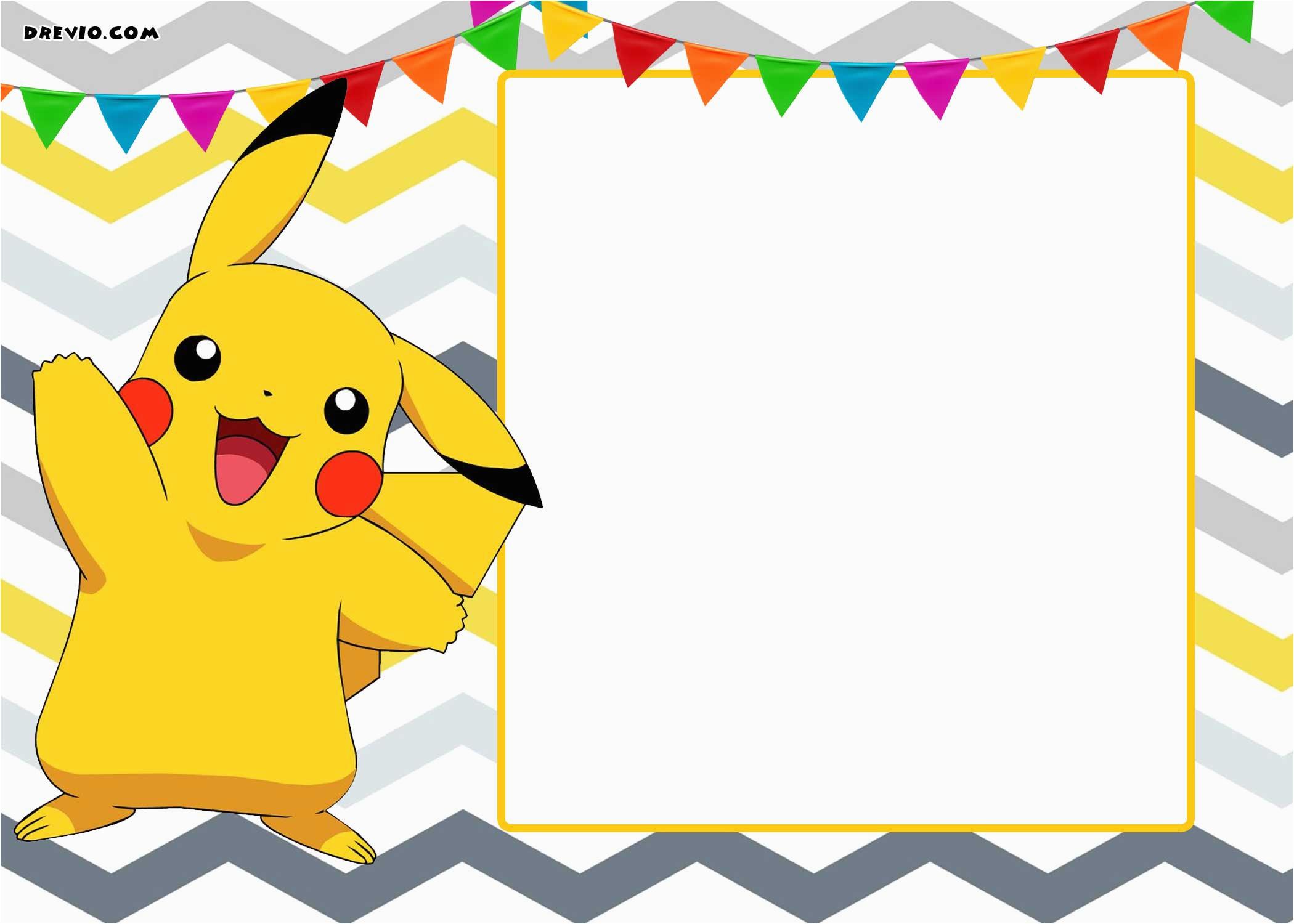 free printable pokemon invitation templates