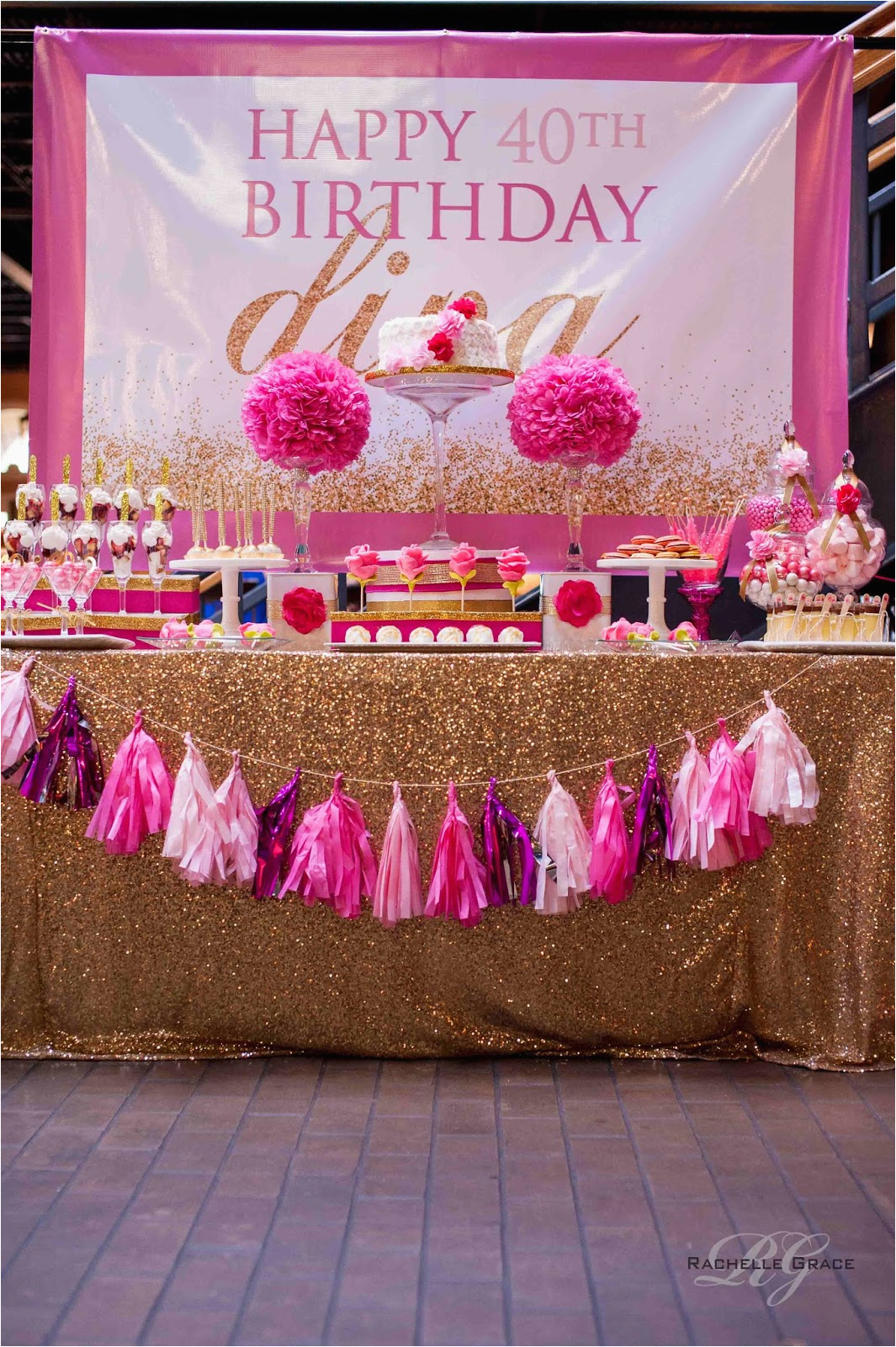 Pink 40th Birthday Decorations Create Cook Capture Diva Gold Party