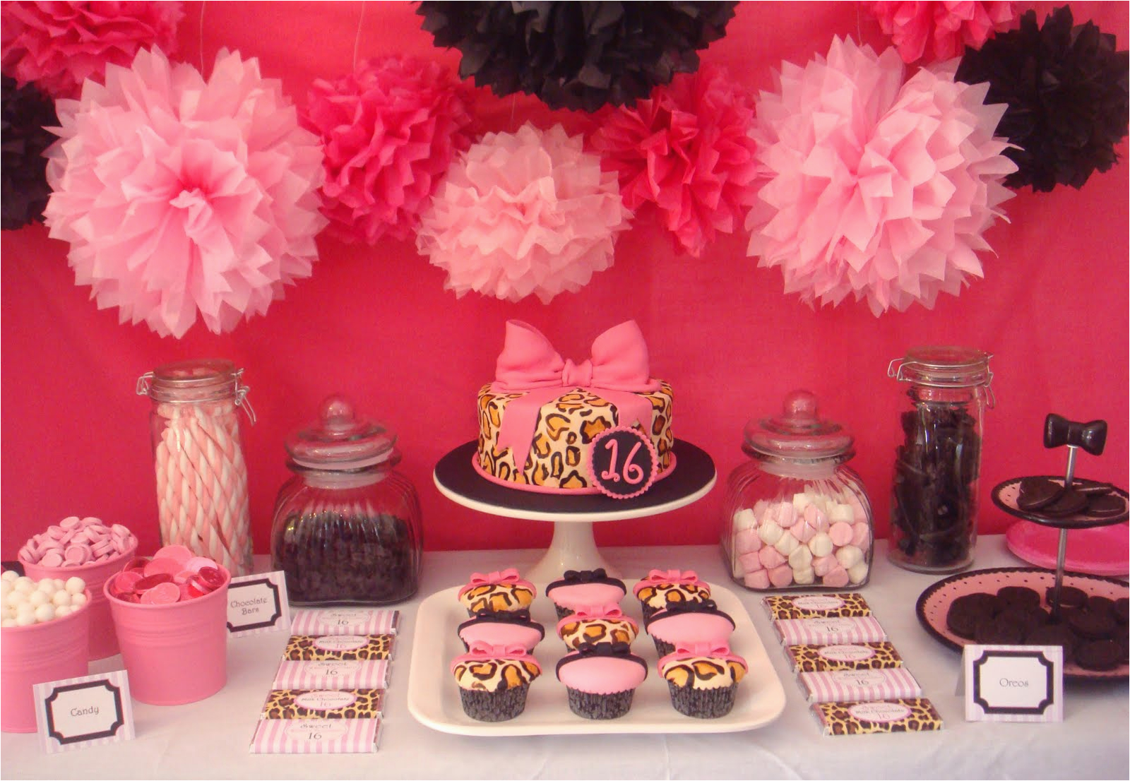 pink and leopard print birthday