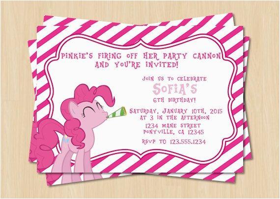 Pinkie Pie Birthday Invitations 9 Best My Little Pony Birthday Party Images On Pinterest