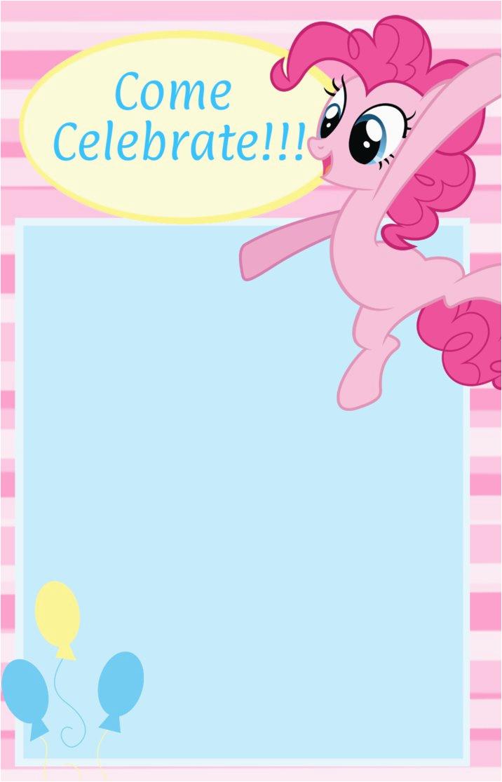 Pinkie Pie Birthday Invitations Pinkie Pie Birthday Invitation D by Chanceyb On Deviantart
