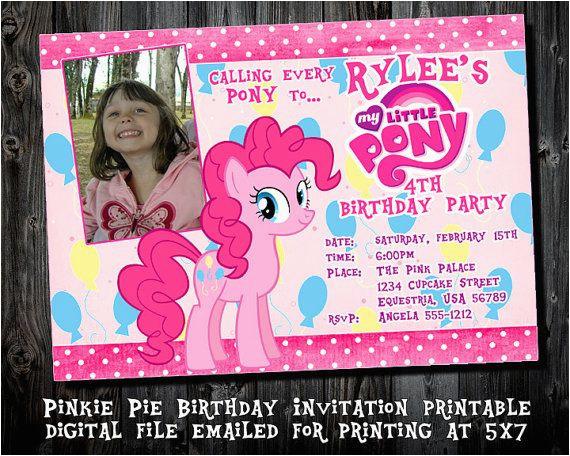 Pinkie Pie Birthday Invitations Pinkie Pie Birthday Party Invitations Printable Party