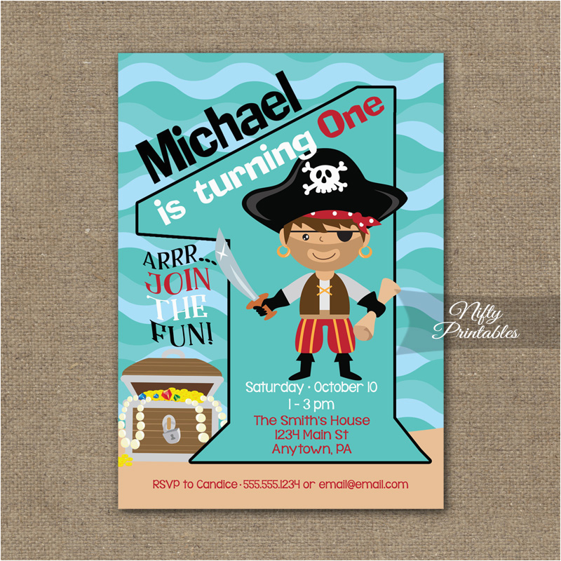 1st birthday invitation pirate birthday invitations
