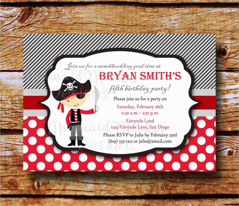 pirate 1st birthday invitations