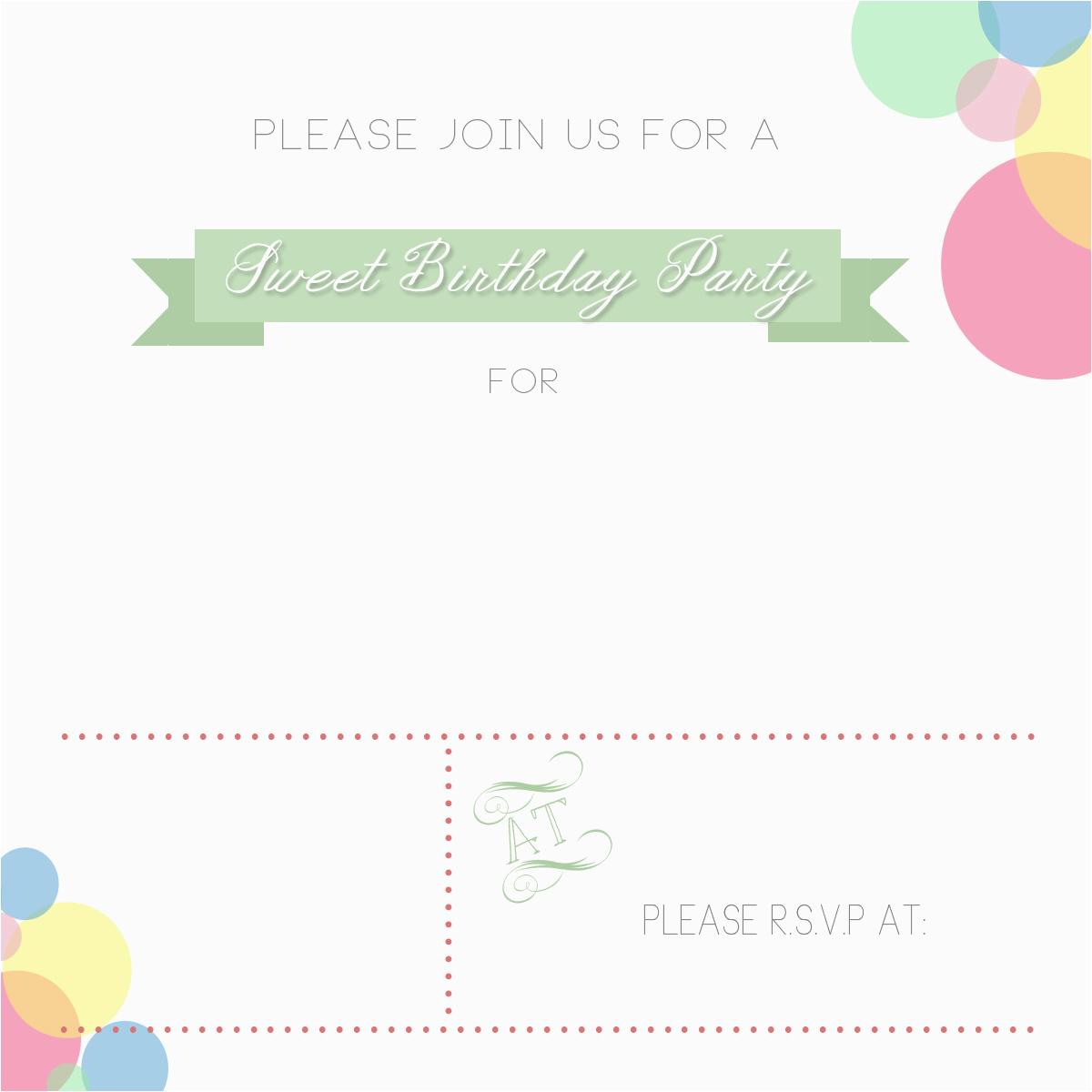p plain birthday card invitation 1709260