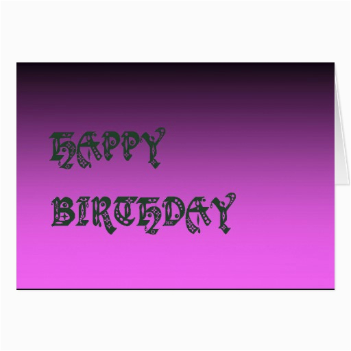 happy birthday plain two tone pink greeting cards 137932808822808686