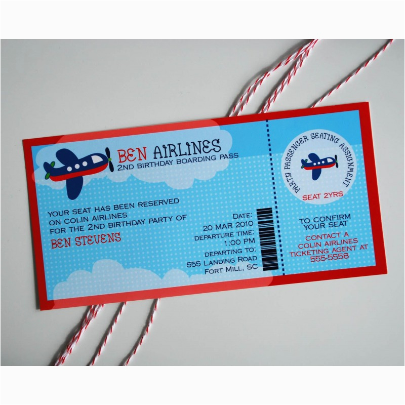 Planes Birthday Party Invitations