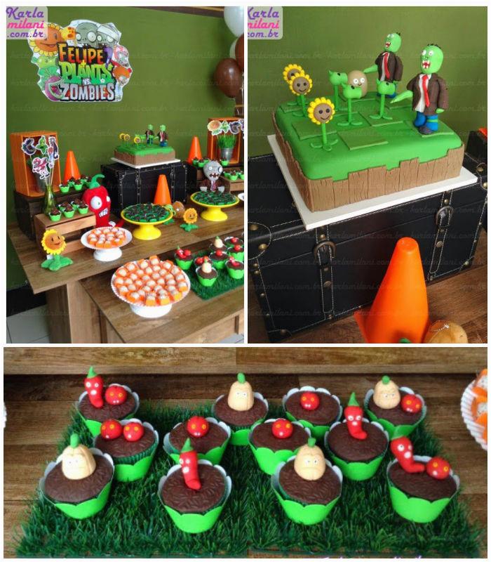 plants vs zombies themed birthday party 2