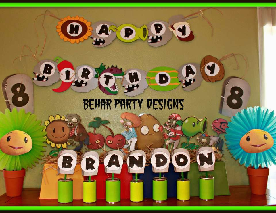 brandons 8th plants vs zombies birthday party