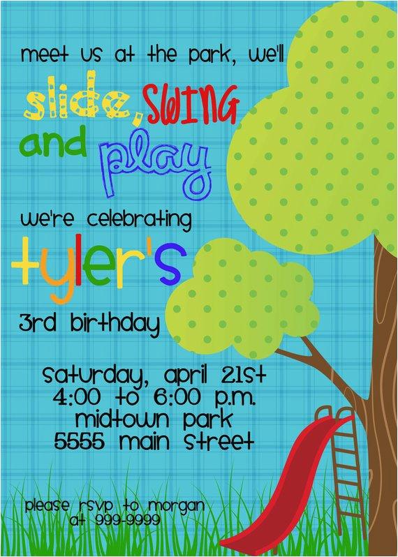 slide swing and play playground birthday
