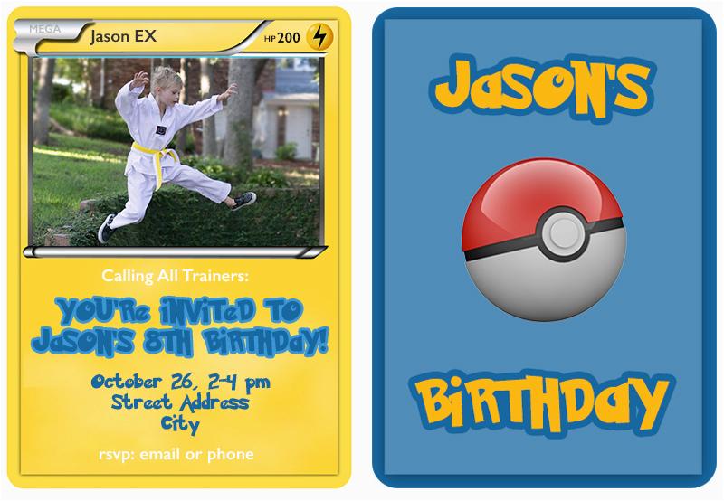 photo regarding Pokemon Invitations Printable Free referred to as Pokemon Birthday Invitation Templates No cost Birthday Invitations