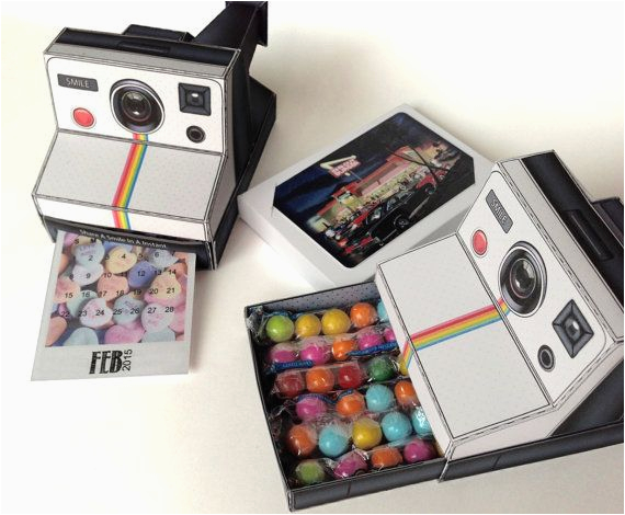 Polaroid Camera Pop Up Birthday Card With Printable Template 8 Best Images Of 3d