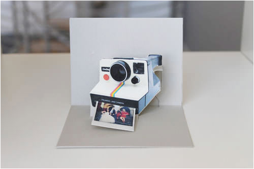 how to make a diy polaroid pop up card